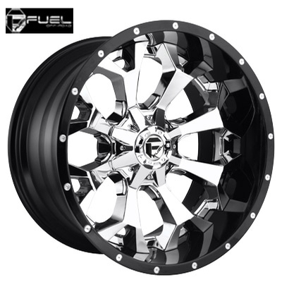 Fuel Off Road D246 2pc Assault Chrome w/Gloss Black Lip