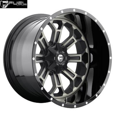 Fuel Off Road D268 2pc Crush Black & Machined w/Dark Tint