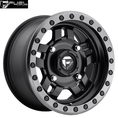 Fuel Off Road D557 Anza Matte Blk w/Anthracite Ring - UTV
