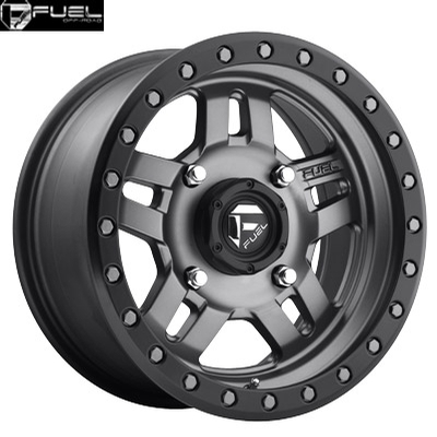 Fuel Off Road D558 Anza Anthracite w/Matte Blk Ring - UTV