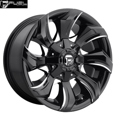 Fuel Off Road D571 Stryker Gloss Black Milled