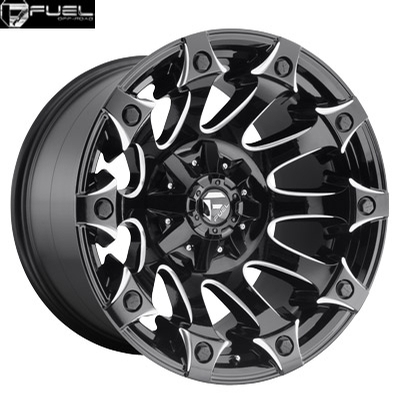 Fuel Off Road D578 Battle Axe Gloss Black Milled