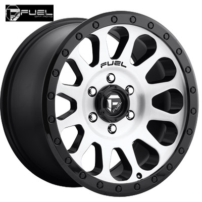 Fuel Off Road D580 Vector Machined w/Gloss Blk