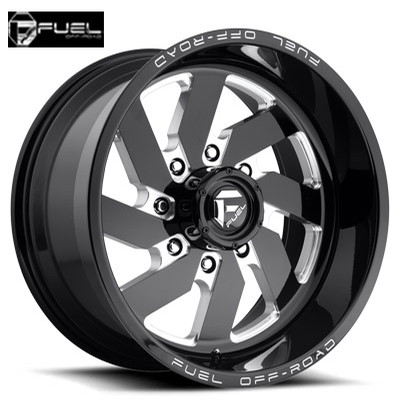 Fuel Off Road D582 Turbo-8 Gloss Blk Milled