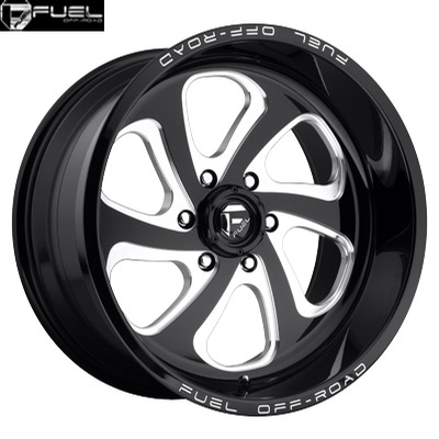 Fuel Off Road D587 Flow-6 Gloss Black Milled