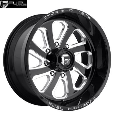Fuel Off Road D587 Flow-8 Gloss Black Milled