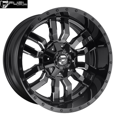 Fuel Off Road D595 Sledge Gloss Black Milled