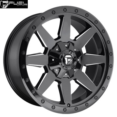 Fuel Off Road D597 Wildcat Gloss Black Milled