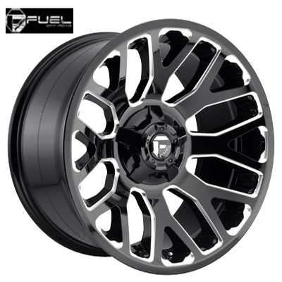 Fuel Off Road D607 Warrior Gloss Black Milled