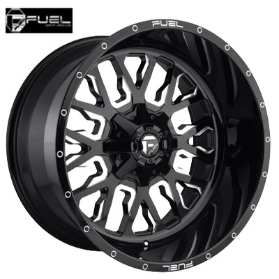 Fuel Off Road D611 Stroke Gloss Black Milled