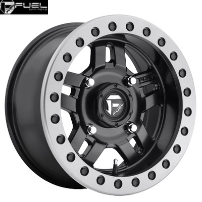 Fuel Off Road D917 Anza Matte Blk w/Anthracite Ring - BEADLOCK