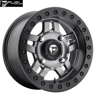 Fuel Off Road D918 Anza Anthracite w/Matte Blk Ring - BEADLOCK