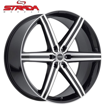 Strada Wheels Filetto Machined Gloss Black