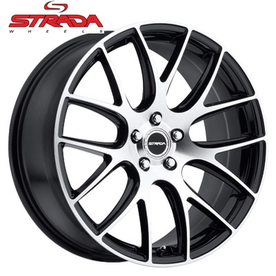 Strada Wheels Fuso Machined Gloss Black