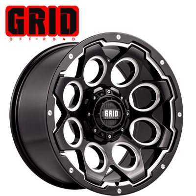 GRID Off Road GD 08 Gloss Black Milled