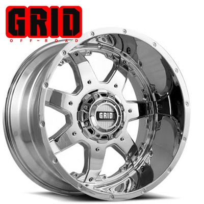 GRID Off Road GD 01 Chrome w/No Inserts