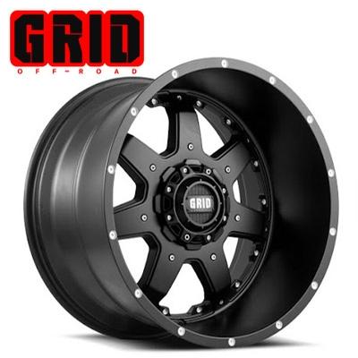 GRID Off Road GD 1 Matte Blk w/No Inserts