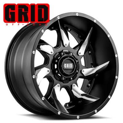 GRID Off Road GD 01 Matte Blk w/Chrome Inserts