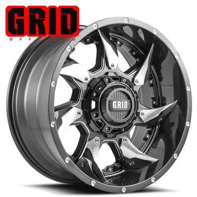 GRID Off Road GD 01 Graphite w/Chrome Inserts