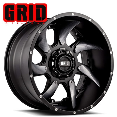 GRID Off Road GD 01 Matte Blk w/Optional Carbon Inserts...comes W/Chrome Inserts
