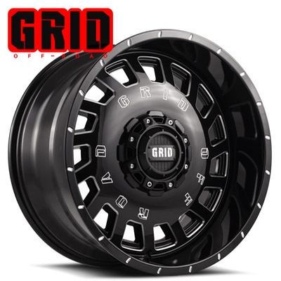 GRID Off Road GD 03 Gloss Blk w/Machined Edge