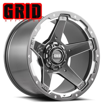 GRID Off Road GD 04 Gloss Graphite-Milled