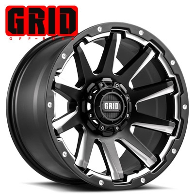 GRID Off Road GD 05 Matte Blk Machined