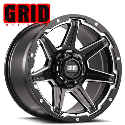 GRID Off Road GD 06 Gloss Blk w/Machined Edge