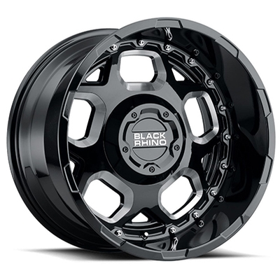 Black Rhino Gusset Gloss Black Milled