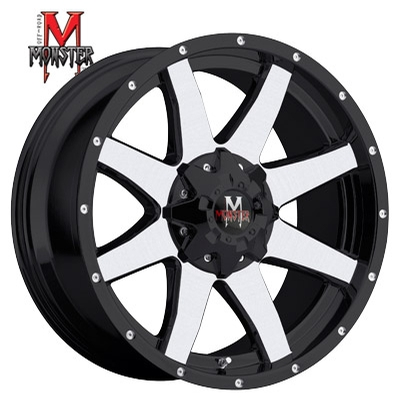 OFFROAD MONSTER M08 Machined Gloss Black