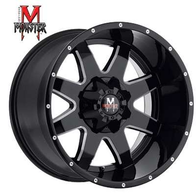 OFFROAD MONSTER M08 Gloss Black Milled