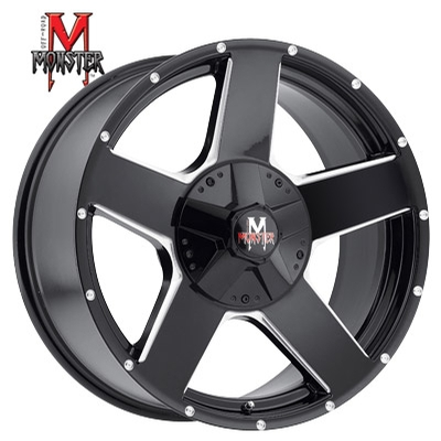 OFFROAD MONSTER M11 Gloss Black Milled
