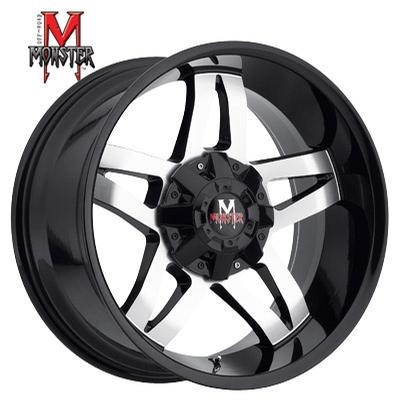 OFFROAD MONSTER M15 Machined Gloss Black
