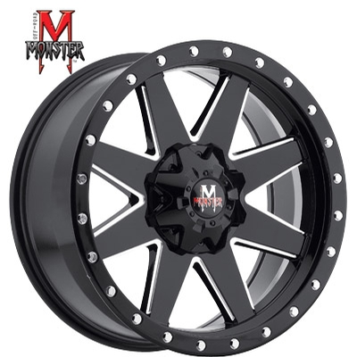 OFFROAD MONSTER M88 Gloss Black Milled