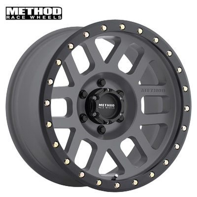 Method Race MR309 Grid Titanium w/Black Lip Edge