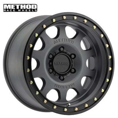 Method Race MR311 Vex Titanium w/Black Lip Edge