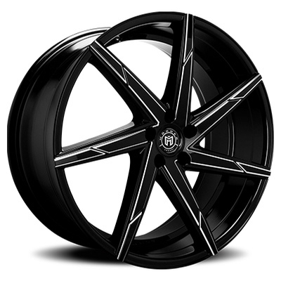 Morder Wheels MS-007 Gloss Black Milled