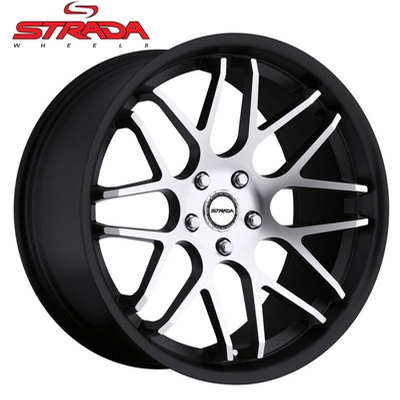 Strada Wheels Moda Machined Black
