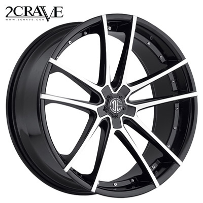 2 Crave No.34 Gloss Black Machined