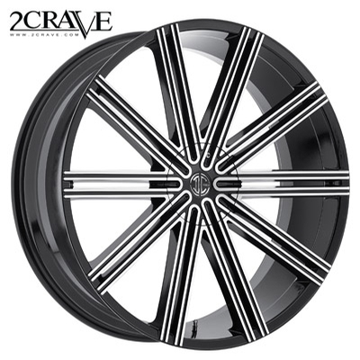 2 Crave No.37 Gloss Black Machined