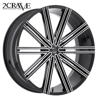 2 Crave No.47 Gloss Black Machined