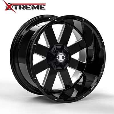 Xtreme NX-18 Gloss Black Mill Machined