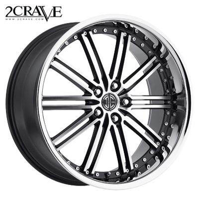 2 Crave No.33 Gloss Blk Machined w/Chrome Lip