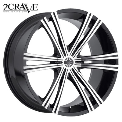 2 Crave No.28 Gloss Blk Machined