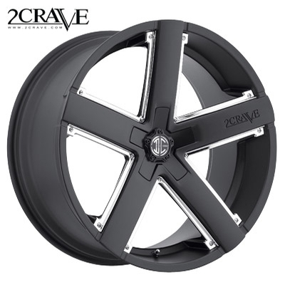 2 Crave No.35 Satin Blk w/Chrome Insert