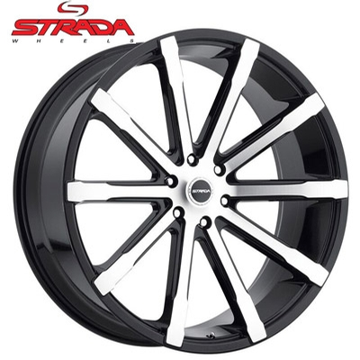 Strada Wheels Osso Gloss Blk Machined