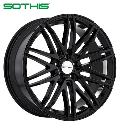 Sothis SC102 Gloss Black Inner Lip Machined