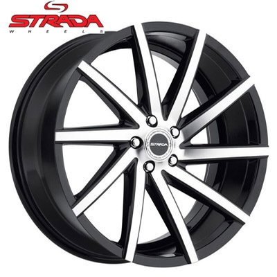 Strada Wheels Sega Machined Gloss Blk