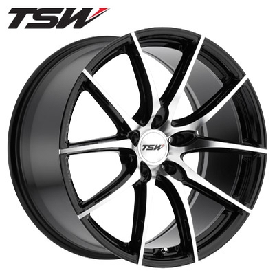 TSW Sprint Machined Gloss Black