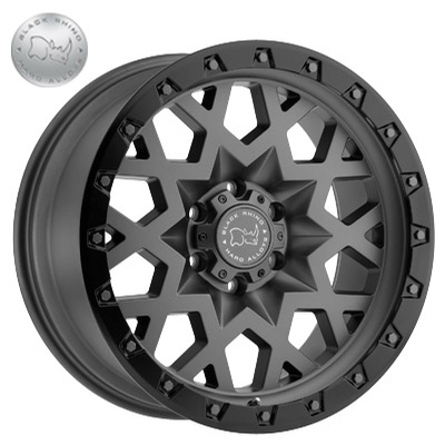 Black Rhino Sprocket Matte Gunmetal w/Black Lip